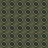 Wektorowy ciemny bezszwowy wzór z przetykaniem cienkie linie Zdjęcie Stock
