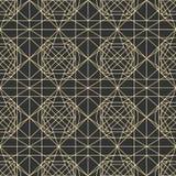 Wektorowy ciemny bezszwowy wzór z przetykaniem cienkie linie Obrazy Stock