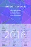 Wektorowy Ścienny kalendarz 2016 Zdjęcia Stock