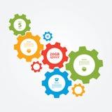 Wektorowy cogwheel szablon. Cogwheel związek, praca zespołowa. Obrazy Stock