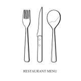 Wektorowy cutlery set Fotografia Royalty Free