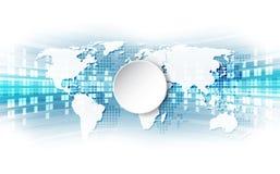 Wektorowy cyfrowy globalny technologii pojęcie, abstrakcjonistyczny tło ilustracji