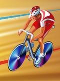 Wektorowy cyklista Obraz Royalty Free