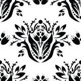 Wektorowy czarny & biały bezszwowy wzór Obraz Royalty Free