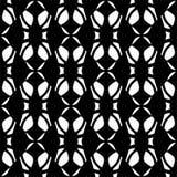 Wektorowy Czarny i biały bezszwowy abstrakcjonistyczny geometryczny i stylowy kształta wzór swobodnie royalty ilustracja