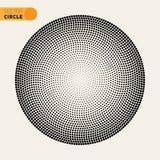 Wektorowy Czarny I Biały Fibonacci spirali okręgu Halftone wzoru projekta element Obrazy Stock