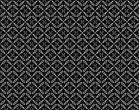 Wektorowy czarny i biały kwiecisty bezszwowy wzór royalty ilustracja