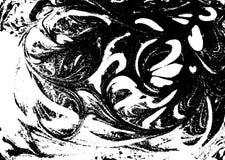 Wektorowy czarny i biały marmurkowaty abstrakcjonistyczny tło Ciecza wzór Grunge tekstura Zdjęcie Royalty Free
