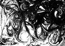 Wektorowy czarny i biały marmurkowaty abstrakcjonistyczny tło Ciecza wzór Grunge tekstura Zdjęcie Stock