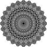 Wektorowy Czarny i biały zaokrąglony deseniowy tło, wektorowa ilustracja ilustracji