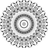 Wektorowy Czarny i biały zaokrąglony deseniowy tło, wektorowa ilustracja royalty ilustracja