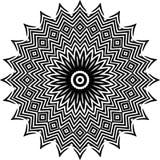 Wektorowy Czarny i biały zaokrąglony deseniowy tło, wektorowa ilustracja obrazy stock