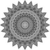 Wektorowy Czarny i biały zaokrąglony deseniowy tło, wektorowa ilustracja ilustracja wektor