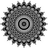 Wektorowy Czarny i biały zaokrąglony deseniowy tło, wektorowa ilustracja zdjęcia stock