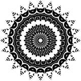 Wektorowy Czarny i biały zaokrąglony deseniowy tło, wektorowa ilustracja obraz stock