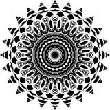 Wektorowy Czarny i biały zaokrąglony deseniowy tło, wektorowa ilustracja obraz royalty free