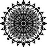 Wektorowy Czarny i biały zaokrąglony deseniowy tło, wektorowa ilustracja zdjęcia royalty free