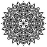 Wektorowy Czarny i biały zaokrąglony deseniowy tło, wektorowa ilustracja fotografia royalty free