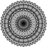 Wektorowy Czarny i biały zaokrąglony deseniowy tło, wektorowa ilustracja fotografia stock