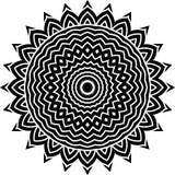 Wektorowy Czarny i biały zaokrąglony deseniowy tło, wektorowa ilustracja zdjęcie royalty free