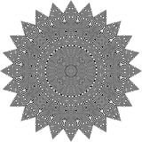 Wektorowy Czarny i biały zaokrąglony deseniowy tło, wektorowa ilustracja zdjęcie stock