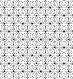 Wektorowy czarny i biały geometryczny bezszwowy wzór ilustracja wektor