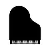 Wektorowy czarny uroczystego pianina odgórny widok Zdjęcie Royalty Free