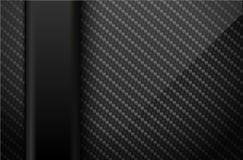 Wektorowy czarny węgla włókna tło z ciemnym pionowo plastikowym kreskowym elementem Przemysłowego projekta ilustracja Obrazy Royalty Free