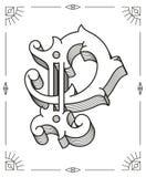 Wektorowy czerń na bielu liście P Zdjęcia Royalty Free