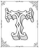 Wektorowy czerń na bielu liście T Zdjęcie Royalty Free