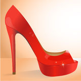 Wektorowy czerwień but Obrazy Royalty Free
