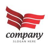 Wektorowy logo książkowa wystawa Fotografia Stock