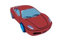 Wektorowy czerwony samochód Zdjęcie Stock