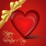 Wektorowy czerwony serce - Szczęśliwy walentynka dzień Obraz Stock
