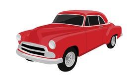 Wektorowy czerwony stary samochód Zdjęcie Royalty Free