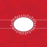 Wektorowy czerwony zaproszenie szablon Obraz Royalty Free