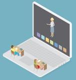 Wektorowy 3d Płaski Isometric Z edukaci pojęciem Zdjęcia Royalty Free