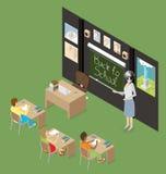 Wektorowy 3d Płaski Isometric Z edukaci pojęciem Zdjęcie Stock