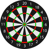 Wektorowy dartboard Obraz Royalty Free