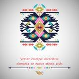 Wektorowy dekoracyjny element na rodzimym etnicznym stylu Zdjęcia Royalty Free