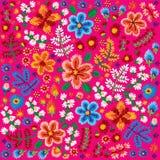 Wektorowy dekoracyjny kwiecisty broderia wzór, ornament dla tekstylnego lub wewnętrznego wystroju Artystyczny handmade stylowy tł ilustracja wektor