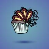 Wektorowy Dekoracyjny Ozdobny tort Obrazy Stock