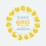 Wektorowy dekoruje projekt robić żółta guma Obrazy Stock