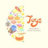 Wektorowy dekoruje projekt robić zabawki royalty ilustracja