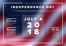 Wektorowy dnia niepodległości sztandar, plakat/ Zdjęcie Royalty Free