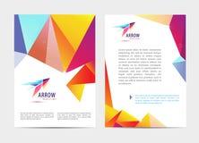Wektorowy dokument, broszurka i letterhead szablon, listu lub loga stylu pokrywy projektujemy mockup ustawiającego dla biznesu Obrazy Stock