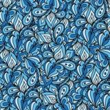 Wektorowy doodle liści wzór Falisty wzór tworzący dla tła Obrazy Stock