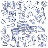 Wektorowy doodle set edukacj ikony Obraz Royalty Free