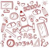Wektorowy doodle set edukacj ikony Obraz Stock