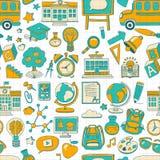 Wektorowy doodle set z szkolnymi rzeczami Zdjęcie Stock